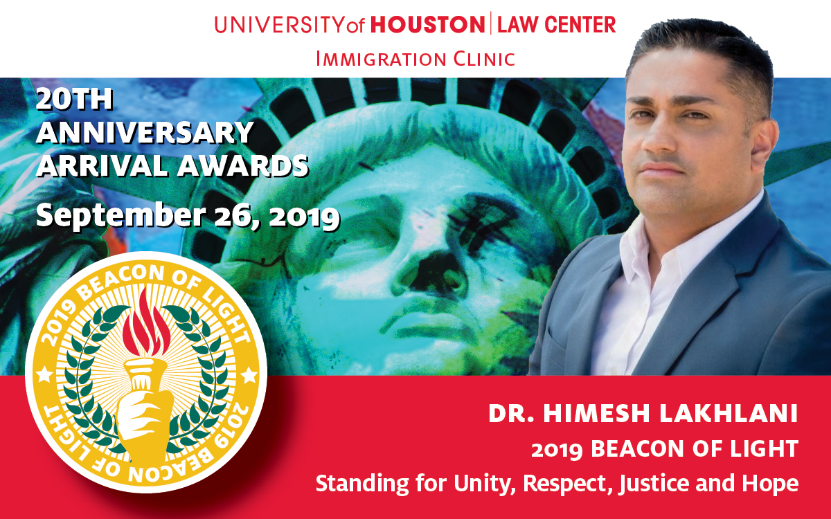 CHCP Campus President Honored by University of Houston Law Center as Beacon of Light