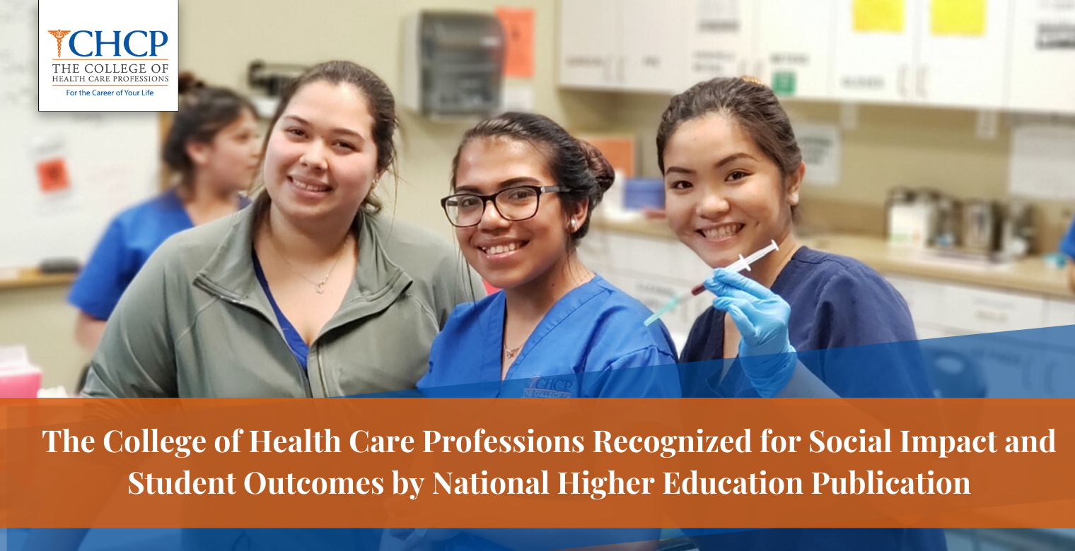 The College of Health Care Professions Recognized for Social Impact and Student Outcomes by National Higher Education Publication