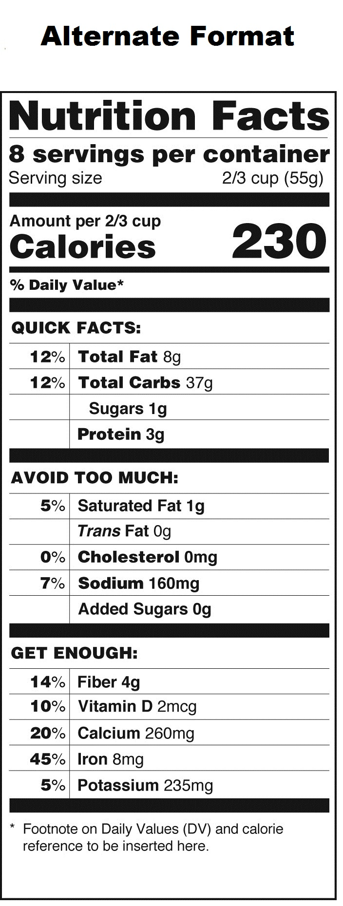 16 Ways To Lose Weight Fast Fda Nutrition Label Template