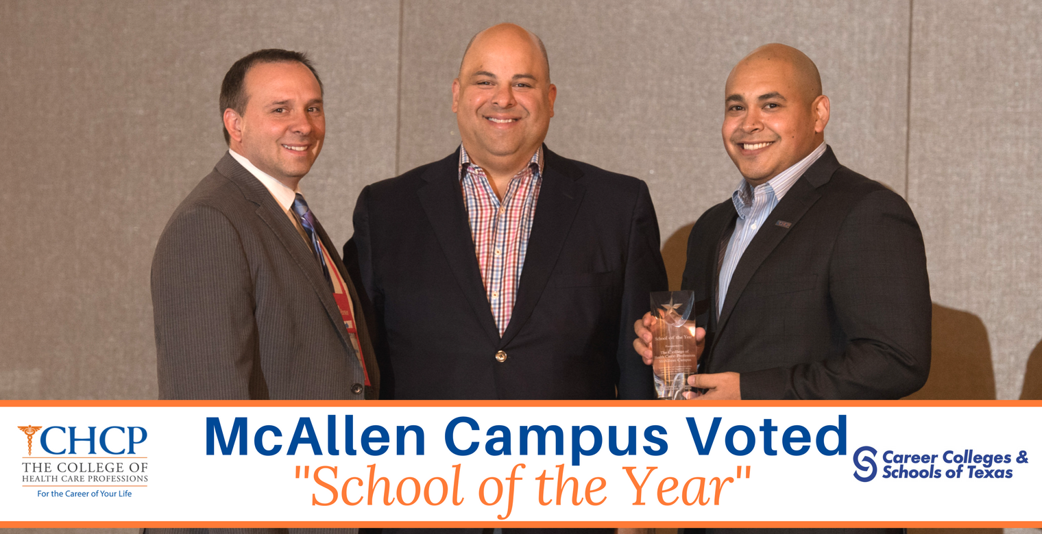 The College Of Health Care Professions Mcallen Wins 2017 School Of
