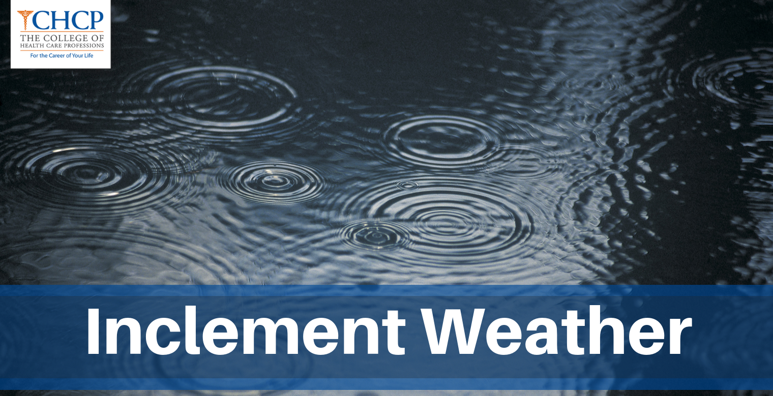 CHCP Inclement Weather Warning