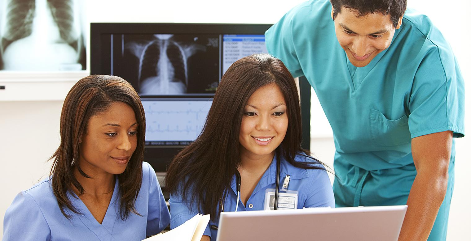 Limited Medical Radiologic Technologists reviewing x-rays